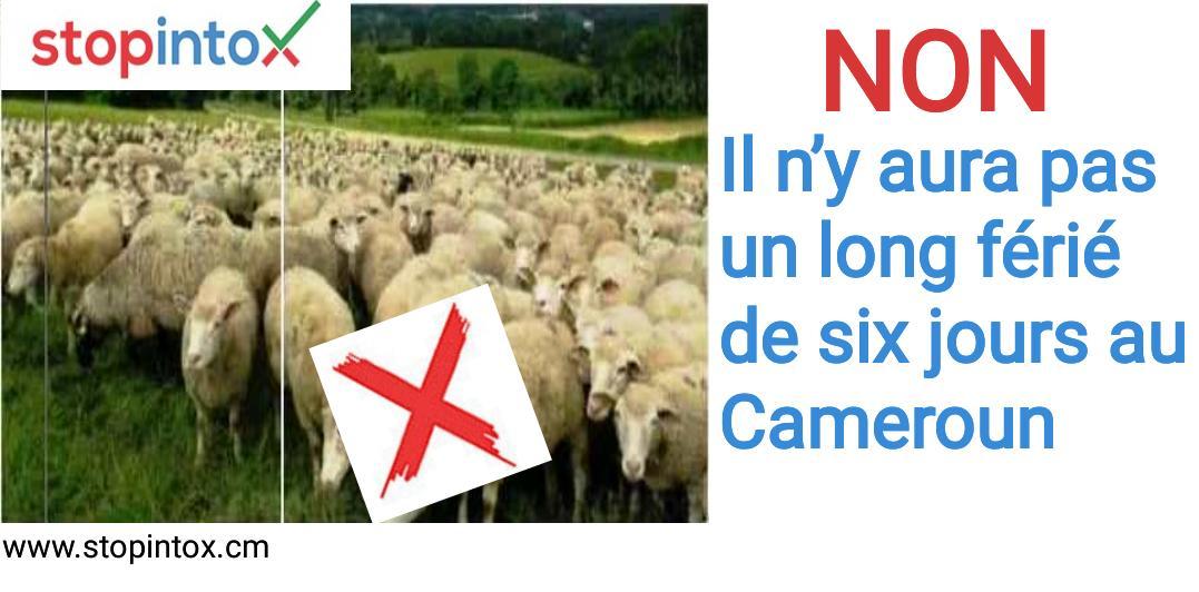 Non, il n'y aura pas un long férié de six jours au Cameroun