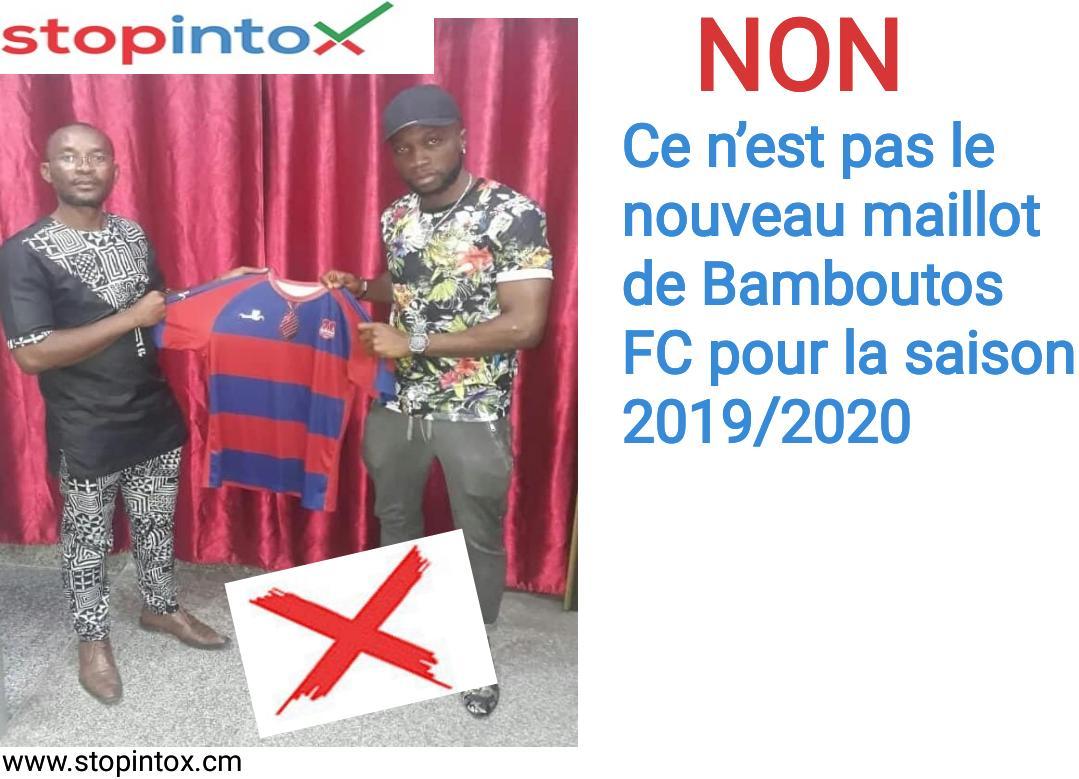 NON, ce n'est pas le nouveau maillot de Bamboutos FC pour la saison 2019/2020