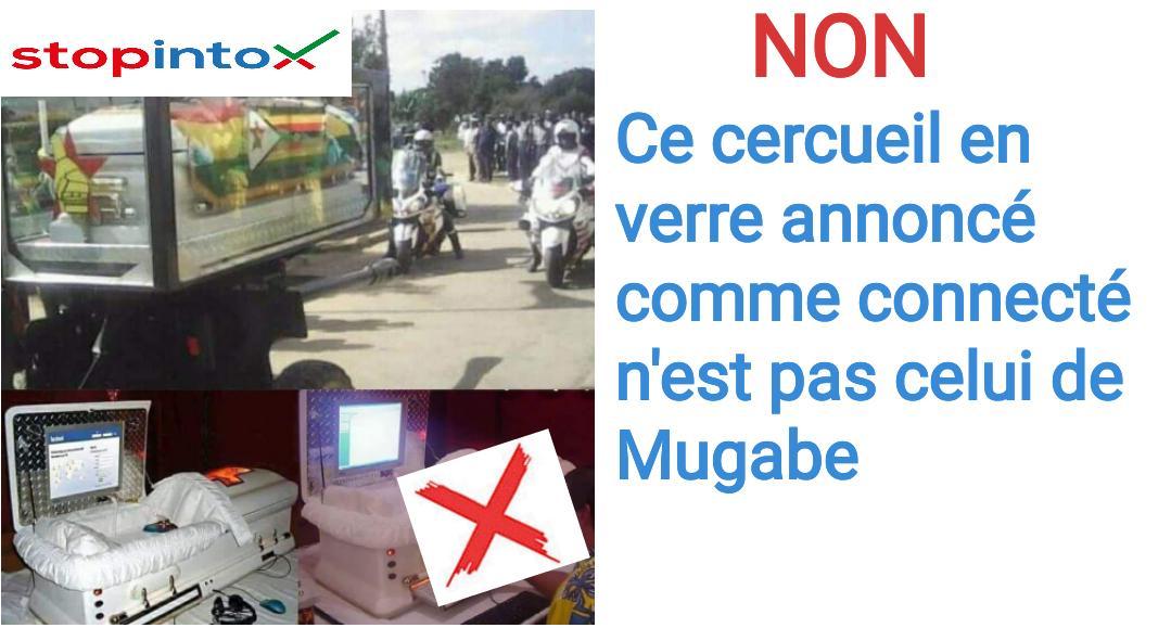 Non ce cercueil en verre annoncé comme connecté n'est pas celui de Mugabe