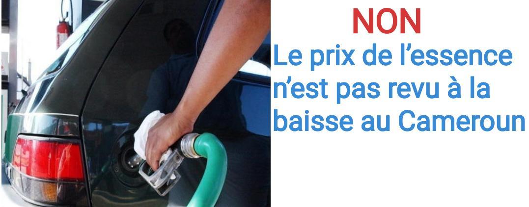 NON, le prix de l'essence n'est pas revu à la baisse au Cameroun