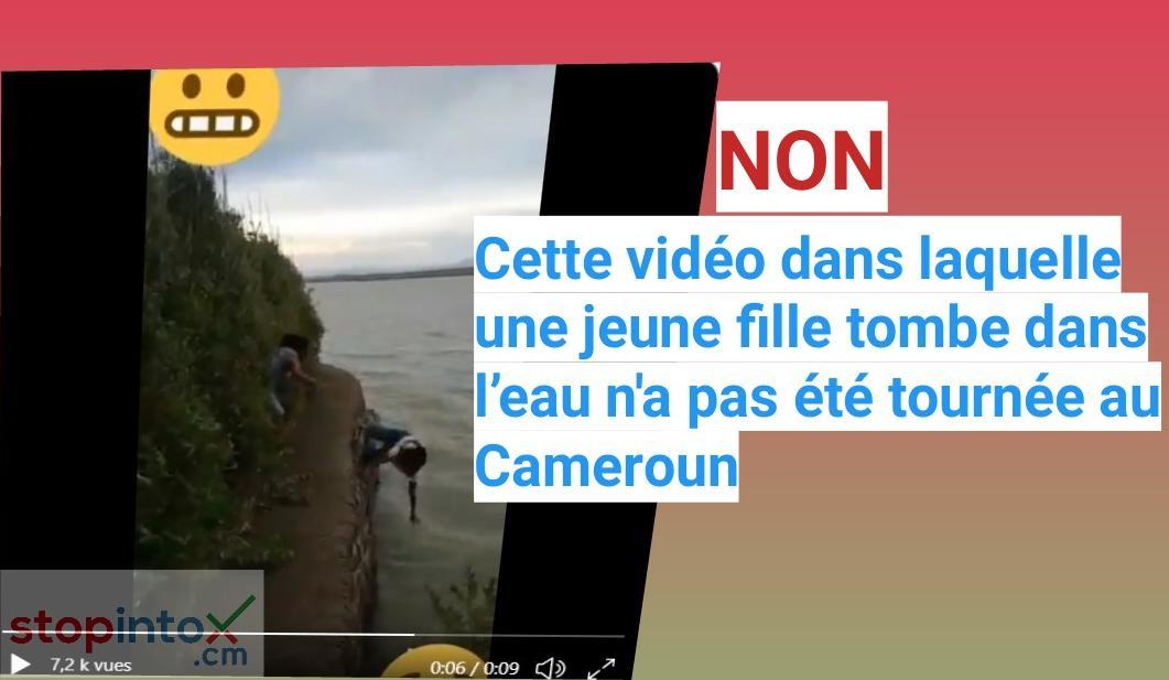 Non, cette vidéo dans laquelle une jeune fille tombe dans l'eau n'a pas été prise au Cameroun